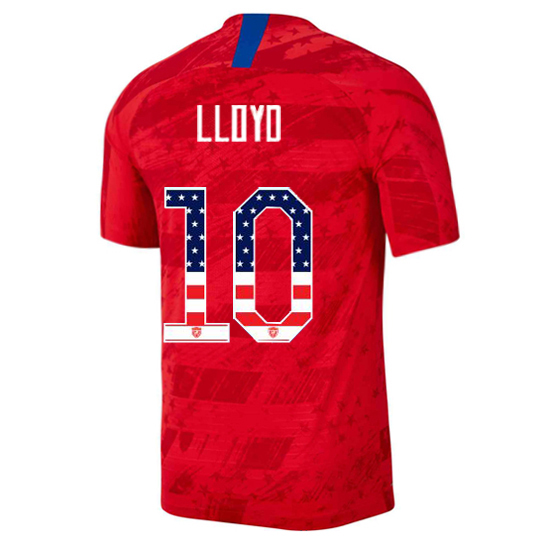2019/20 USA Away Carli Lloyd Men's Jersey Independence Day