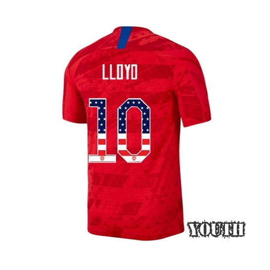 2019/20 USA Away Carli Lloyd Youth Jersey Independence Day