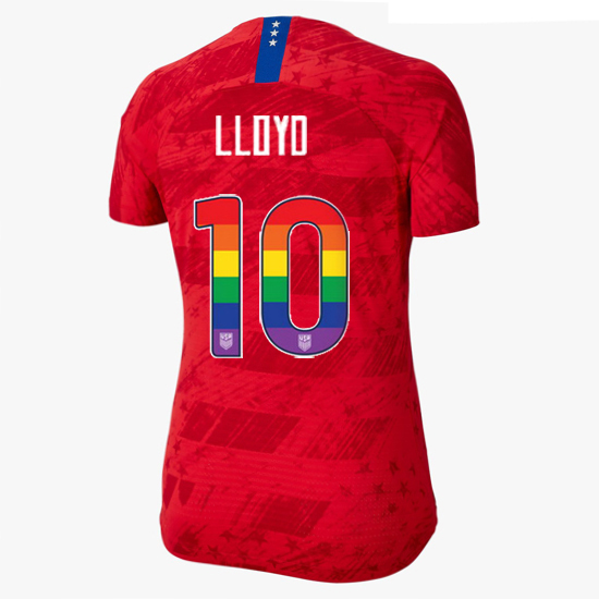 2019/20 USA Red Carli Lloyd Women's Jersey Rainbow Numbers
