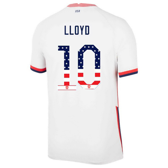 2020/21 USA Home Carli Lloyd Men's Jersey Independence Day
