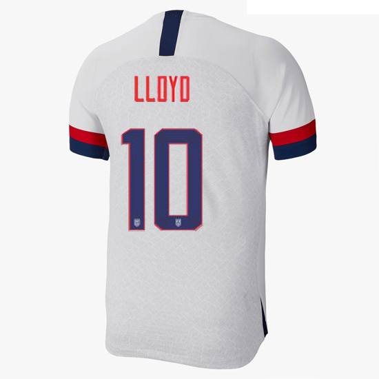 2019/20 USA Home Carli Lloyd Men's Authentic Soccer Jersey (#10)
