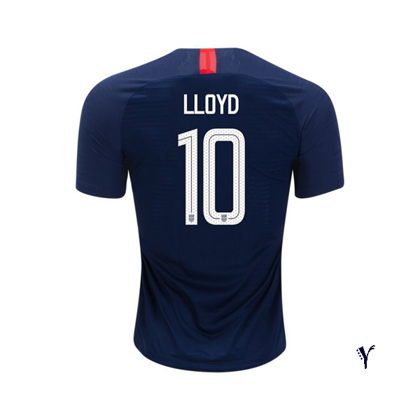 2018/19 USA Away Carli Lloyd Youth Soccer Jersey (#10)