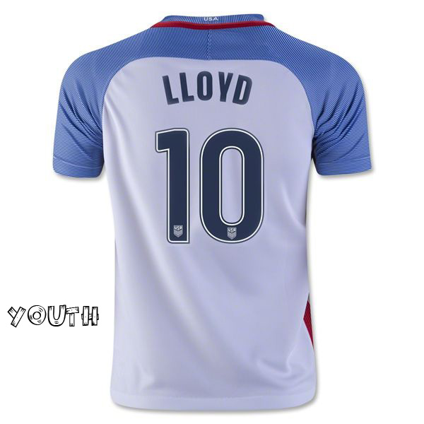 2016/17 Carli Lloyd (#10) Home Youth Jersey USA Soccer
