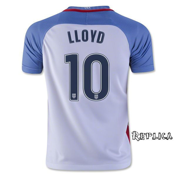 2016/17 Carli Lloyd (#10) Home Replica Men's Jersey USA Soccer