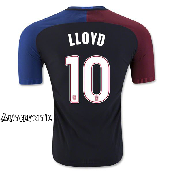 2016/17 Carli Lloyd (#10) Away Men's Authentic Jersey USA Soccer