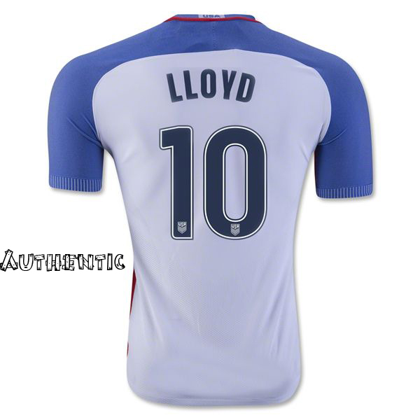 2016/17 Carli Lloyd (#10) Home Men's Authentic Jersey USA Soccer
